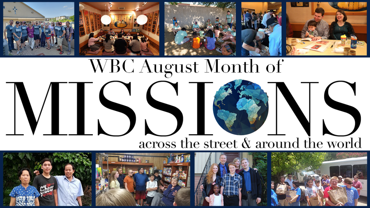 August Month of Missions Focus