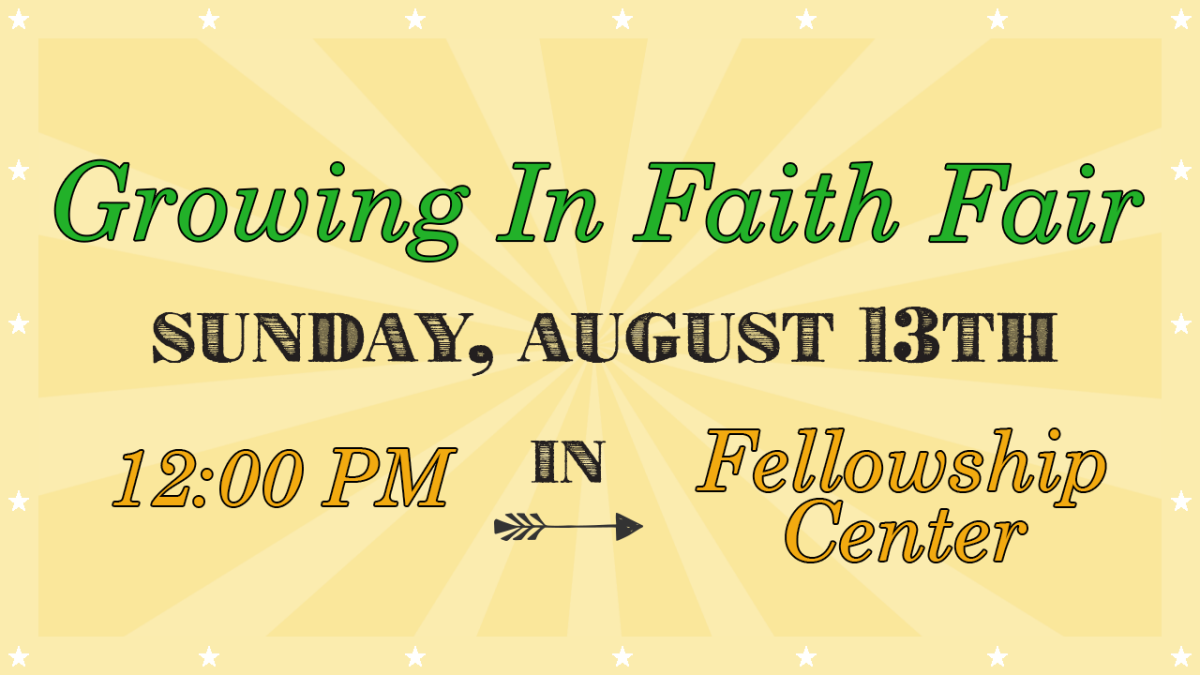 Growing In Faith Fair