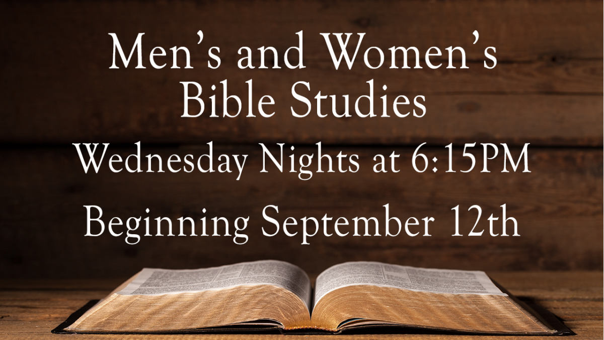 Men's And Women's Bible Studies